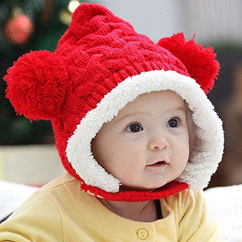 Amazon.com  Xiaonibang Hy08 Baby Toddler Kids Cute Hat Wool Knitted Winter  Warm Cap 89b69af8cbd