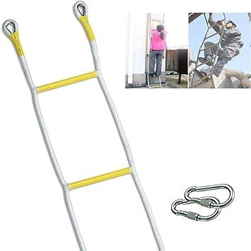 MYTDBD Escalera de incendios con 2 ganchos, suave emergencia Escalera de cuerda cuerda de escalada al aire libre (Size : 21m/69ft): Amazon.es: Bricolaje y herramientas