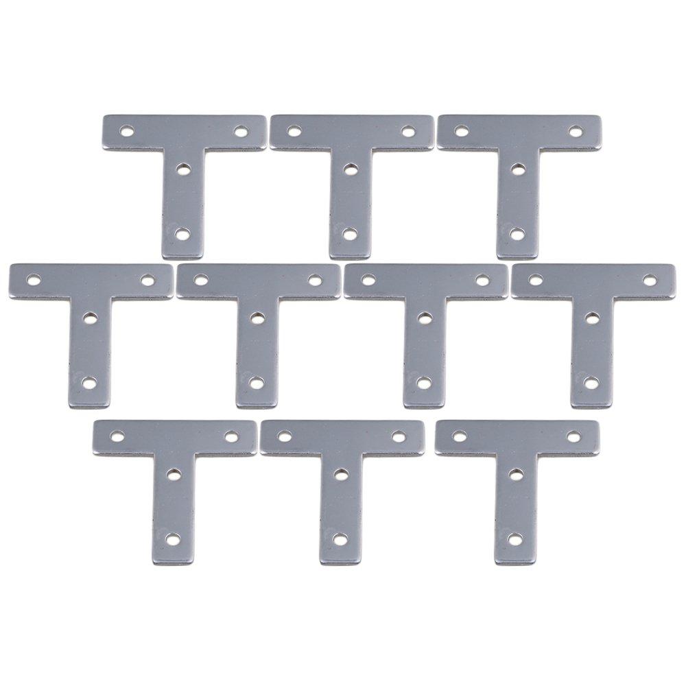 Yibuy 10pcs 2020 Aluminum T-Shaped T-Type Connection Plate EUR 20 Standard