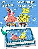 SPONGE BOB Quarter Sheet Edible Photo Birthday Cake Topper. ~ Personalized! 1/4 Sheet