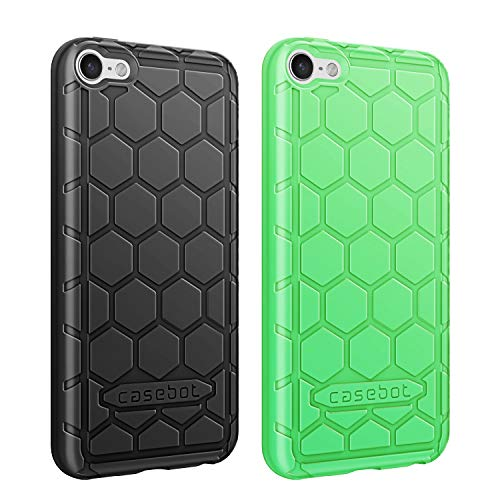 Fintie Silicone Case for iPod Touch 7 iPod Touch 6 iPod Touch 5 - (Honey Comb Series) Impact Shockproof Anti...