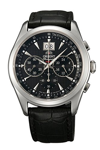 ORIENT Chronomaster BIG-DATE Classic Quartz Chronograph Sapphire Dress Watch TV01004B (Orient Quartz Chronograph)