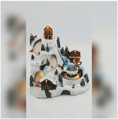 Eminza - Pueblo de Navidad iluminado y animado: Amazon.es: Hogar