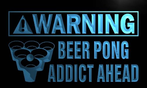 ng Beer Pong Addict Ahead Neon Light Sign ()