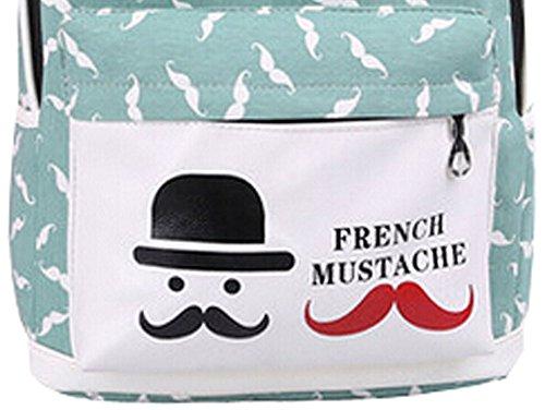 New Small fresh Backpack Korean Mustache Style Backpack GRAEE GERRN