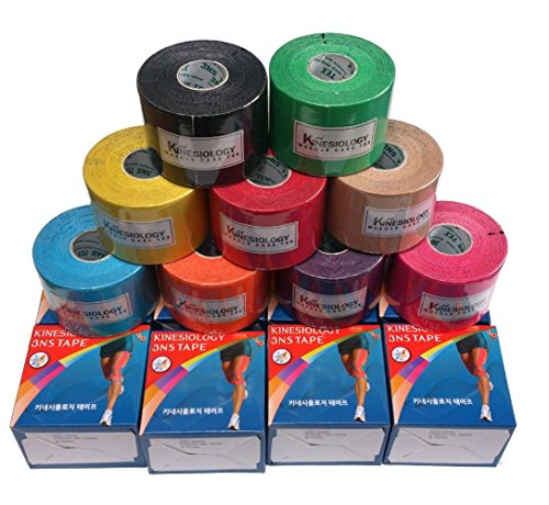 12 rolls - 3NS TEX Kinesiology Muscle Care Sports Tape ( 9 colors ) by 3NS