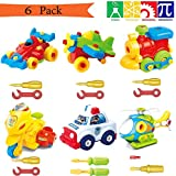 Take Apart Toys With Tools, Airplane Car Toys STEM Learning (148 pieces), Educational Construction Engineering Building Play Set Creative Fun Kit Best Toy Gift for Kids Ages 3yr - 6yr 3 Years and Up