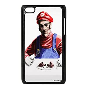 iPod Touch 4 Case Black Mario and Shrooms JSK879219