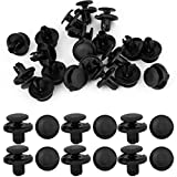 uxcell uxcell 20 Pcs 8mm Hole Retainer Clips Plastic Drive Rivets Mud Flaps Bumper Fender Push Clips for Honda Accord