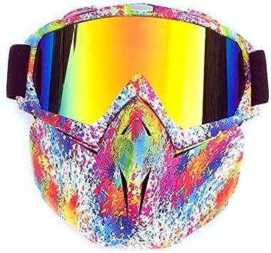 CUHAWUDBA Gafas De ProteccióN De Motonieve De Esquí De Snowboard MáScara De Nieve Invierno Esquí Gafas De Esquí Gafas De Sol De Motocross para Hombre Mujer Grafiti