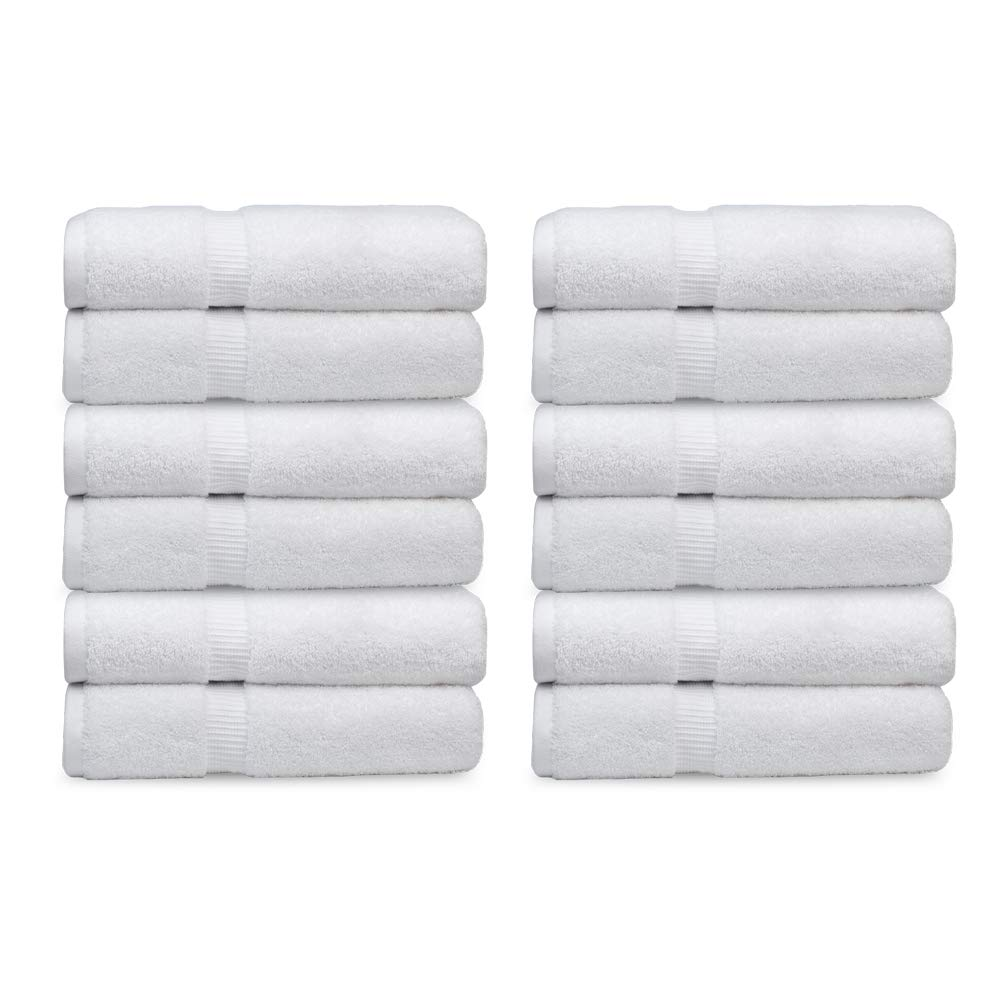 Forte Lighting Luxury Washcloth-Bathroom-Kitchen-Hotel-Spa- 100% Combed Cotton- Soft Plush Feel Highly Absorbent-Hypoallergenic Face Towels- 13 x 13-300 Piece Wholesale Pack