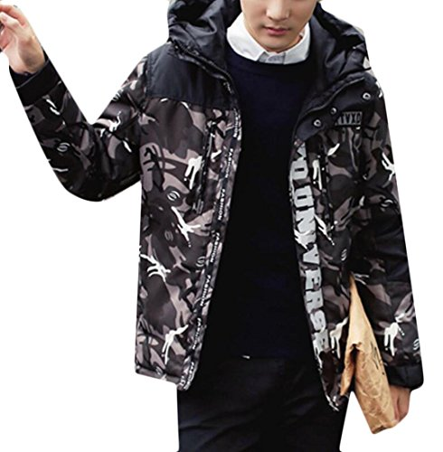Coat M Waterproof Black amp;W Men's Warm amp;S Down Camo Jacket Outwear Patterned Puffer qxgXrFvxw