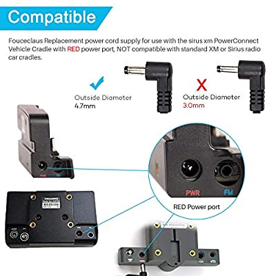 Car Vehicle Power Adapter for Sirius XM 5V PowerConnect, Replacement Power CordSupplyCompatible with SiriusXM Vehicle Dock SXVD1(A), XDPIV1, XDPIV2, SDPIV1, XAPV2 XMP3i, SXiV1: Home Audio & Theater