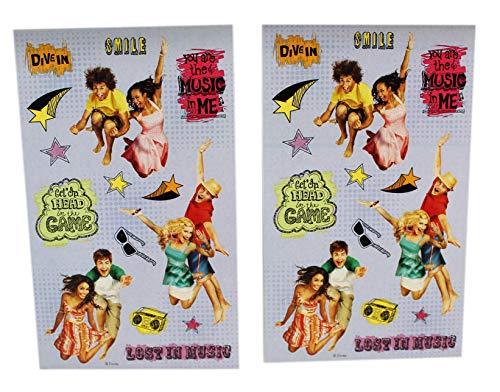 - High School Musical Disney's Lavender Background Sticker Sheets (2 Sheets)