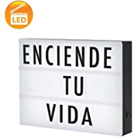 Redlemon Cinema Light Box: Letrero Luminoso LED Tipo Cine, Cartelera Vintage con Retroiluminación, 90 Letras, Números y Símbolos, Tamaño A4, Portátil