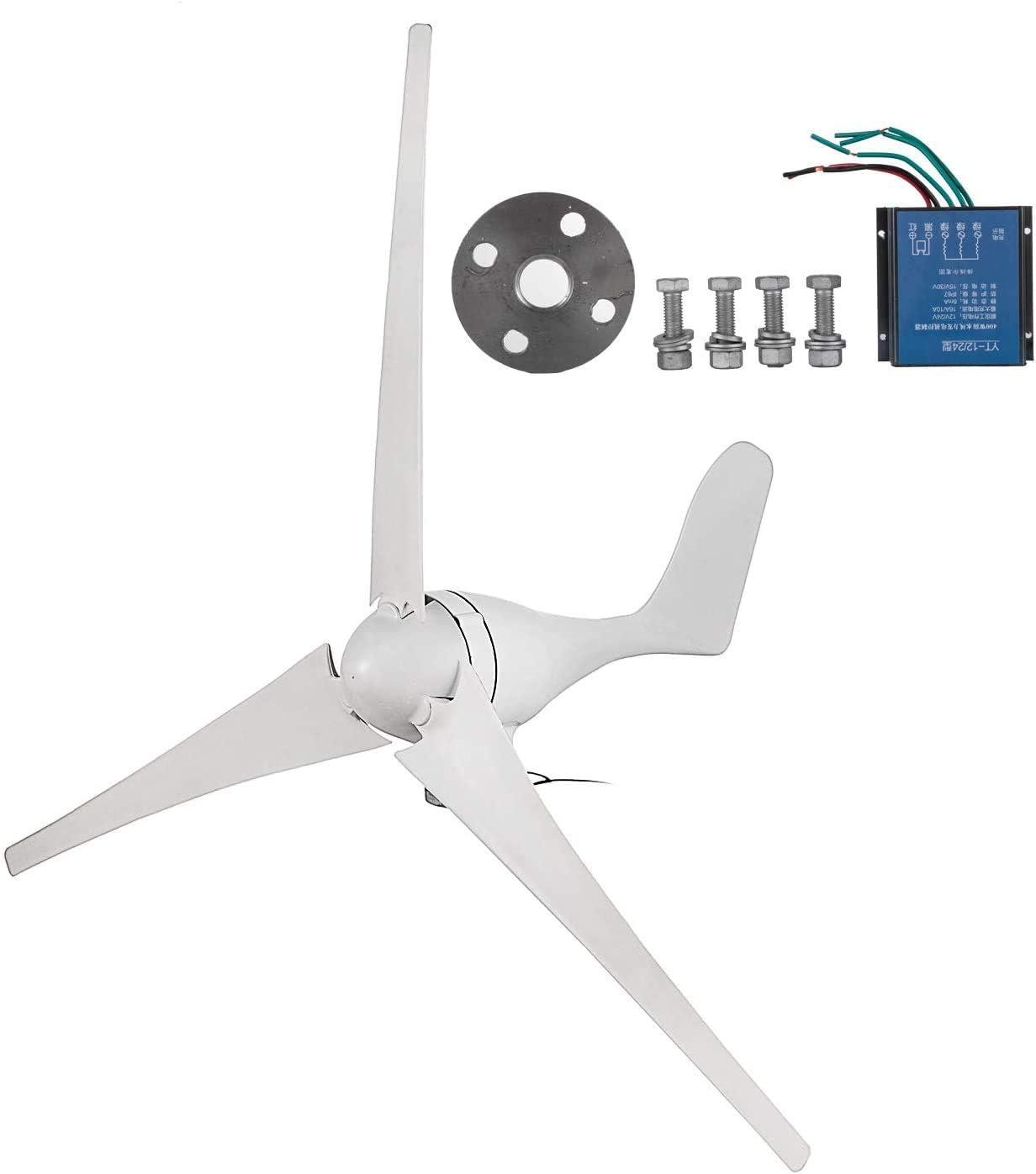400W Windgenerator 20A Wind Windturbine Saubere Energie PBT Leaf