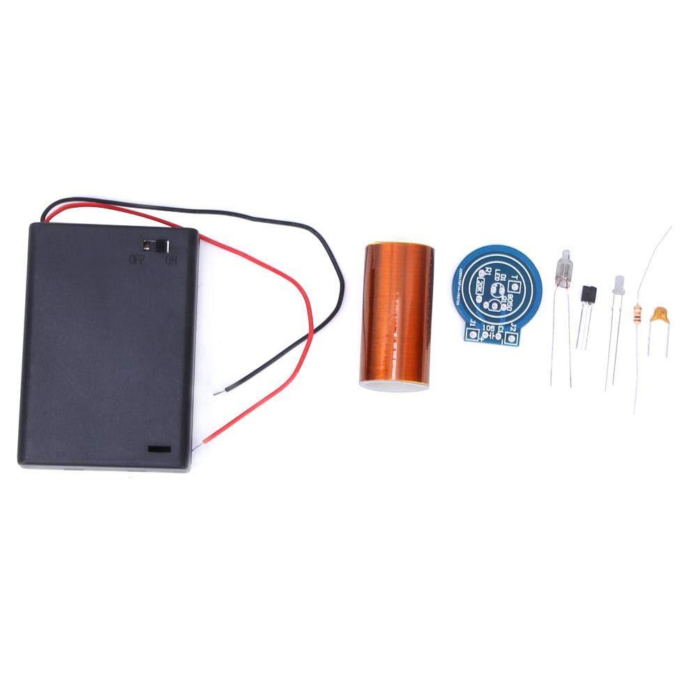 keine Lichtbogen-Fernz/ündung Tesla-Elektronik-Bausatz kein Lichtbogen Unvollendet nur Licht Tesla-Spule Mini-Tesla-Spule f/ür Trockenbatteriebetrieb kein Strom