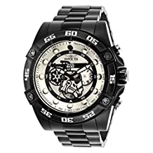 Invicta Men's 'Star Wars' Quartz Stainless Steel Casual Watch, Color:Black (Model: 26515)