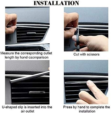 Wooya 10 St/ücke 20Cm Universal Auto Klimaanlage Outlet Dekoration U Form Innenform Trim Streifen Auto Styling Zubeh/ör-Blau