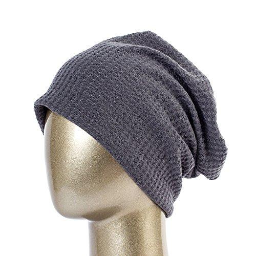 Soft de Khaki Spring Beanie Cap oscuro QETUOAD damas Gris cómodo para Sombreros rayas sólidas de hombres para Bonnet Gorros Dq410B algodón Skullies HOddaqtw