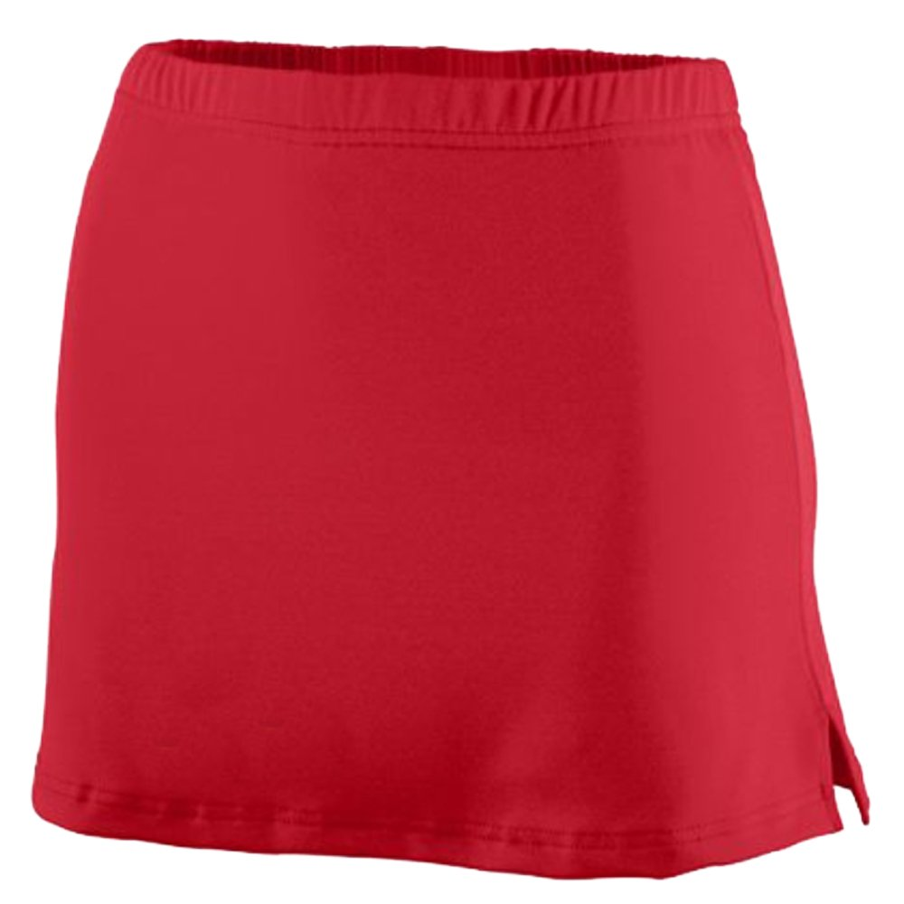 A-Line Tennis Skirt with Shorts and Slits (Red) Red)
