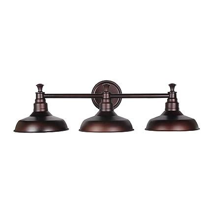 3 light vanity coastal design house 520320 kimball light vanity light bronze amazoncom