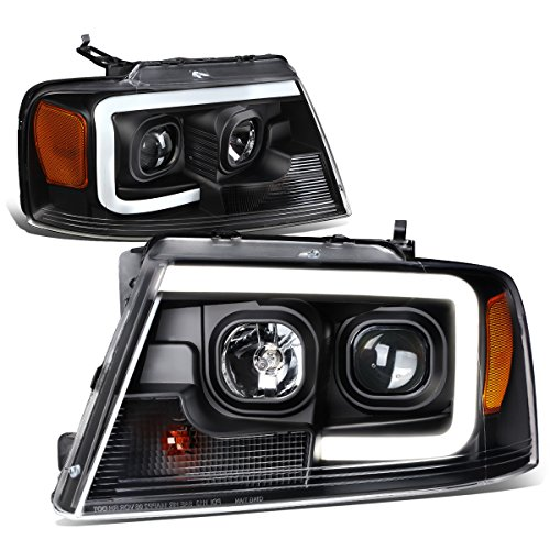 DNA Motoring HL-3D-G2-F1504-BK-AM 3D LED DRL Projector Headlight[04-08 Ford F150]