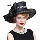 HomArt Women Organza Fascinator Bridal Party Hat Preakness Stakes Belmont Stakes Hat