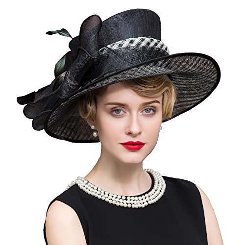 HomArt Women Organza Fascinator Bridal Party Hat Preakness Stakes Belmont Stakes Hat by HomArt