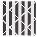 Sweet Jojo Designs Black and White Stripe Fabric Memory/Memo Photo Bulletin Board for Paris Collection