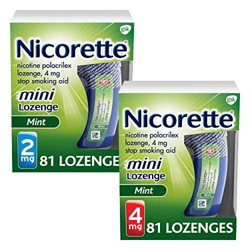 Mini Nicorette Nicotine Lozenge Stop Smoking Aid, 2