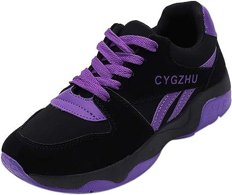 Sylar Zapatillas De Running para Mujer Zapatillas Deportivas Planas Simple Cosiendo Zapatillas De Cordones Suela Gruesa Zapatos De Aumento 36-39: Amazon.es: Zapatos y complementos