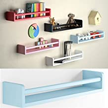 1 Light Blue Baby Nursery Room Wall Shelf Wood 17.5 Inch Ships Fully Assembled