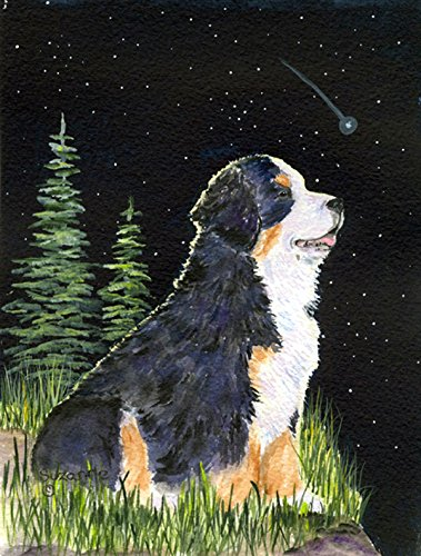 Caroline's Treasures SS8468GF Starry Night Bernese Mountain Dog Flag, Small, Multicolor - Bernese Mountain Dog Garden Flag