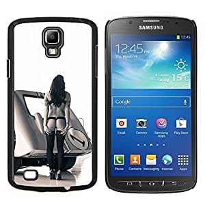 LECELL--Funda protectora / Cubierta / Piel For Samsung Galaxy S4 Active i9295 -- Pin Up Race Mujer --