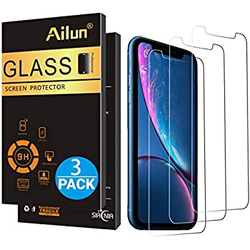 AILUN Screen Protector Compatible With IPhone XR 61inch 2018 Release3 Pack033mm Tempered Glass Release