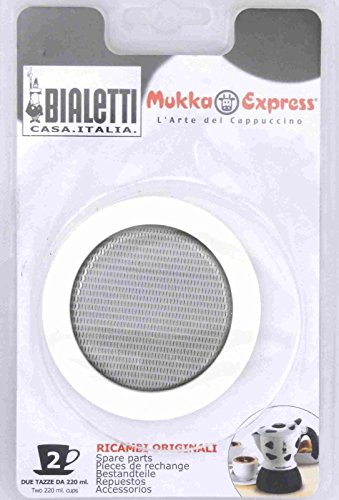 Bialetti - Spare Seal - Replacement Part Suitable for Mukka Express Cappuccino Coffee Makers - 2 Cups (Bialetti Express Mukka)
