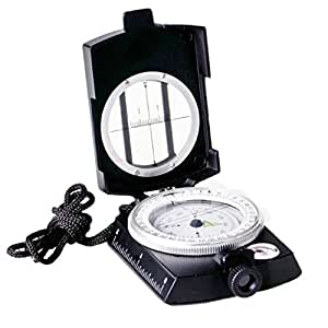 Professional Multifunction Military Army Metal Sighting Compass High Accuracy Waterproof Compass Black Color (Black)
