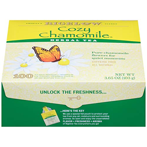Bigelow Cozy Chamomile Herbal Tea, 100 count box