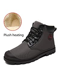 Calflint 2018 Fashion Men Women Winter Snow Ankle Boot With Fur Keep Warm Plush High Top Shoes