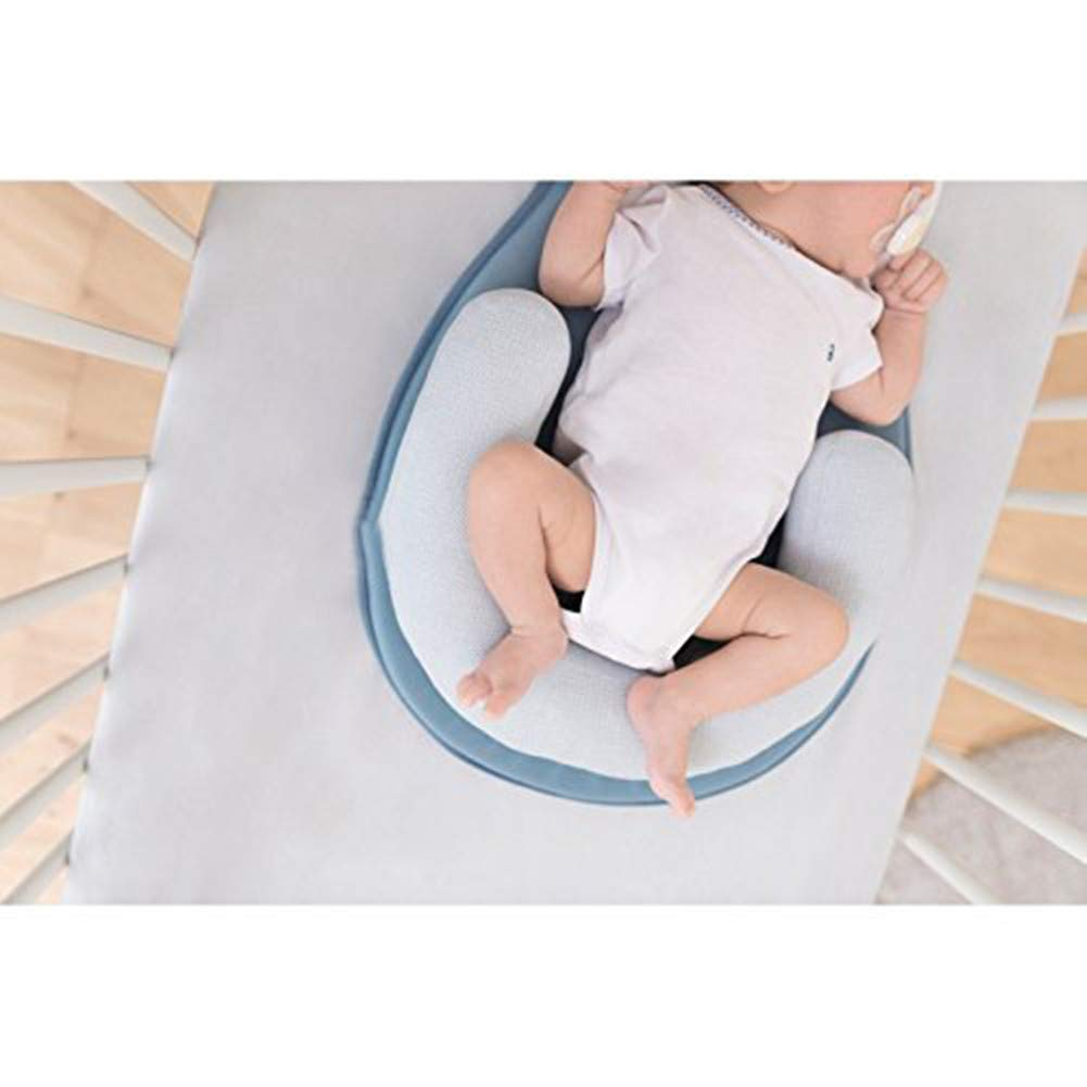 BESTLA Baby Pillow,Head Support Portable Baby Bed Mattress for Newborn Baby and Infant Age 0-12 Months,Anti-Rollover Cosy Positioning Pad