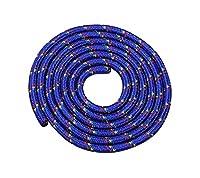 Seilspringen - Springseil 3 Meter - schönes Muster - blau