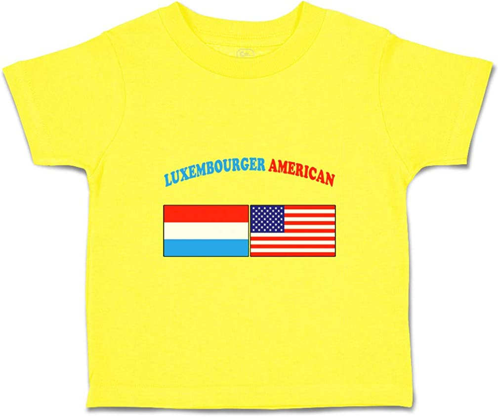 Custom Baby /& Toddler T-Shirt Luxembourger American Cotton Boy Girl Clothes
