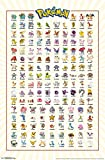 "Trends International Pokemon Kanto Grid Wall Poster 22.375"" X 34"""