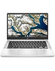 HP Chromebook Laptop, 14 Inch Full HD IPS Scherm, Celeron N4020 dual, 4GB RAM, 64GB eMMC, Chrome OS, 14a-na0210nd, Zilver