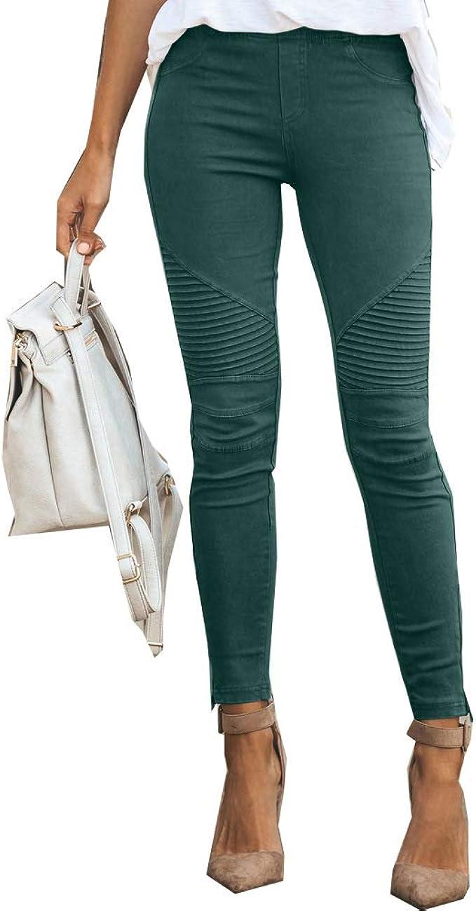 C/ómodo Mujer Moderna Jeggings Leggings cadera Pantal/ón Stretch Slimfit