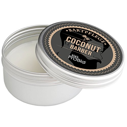 100ProBio Kokosöl Bartpflege -Coconut Barber- mit 100% reinem Kokosöl 50g