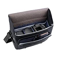 MOSISO Camera Bag, Water Repellent Polyester Large Shoulder Messenger Handbag for Digital SLR/DSLR Cameras (Nikon, Canon, Sony, Pentax, Olympus Panasonic, Samsung and More), MacBook, Laptops, Black by Mosiso