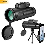 Monocular Telescope,TAFULOR 12X42 Waterproof, Shockproof and Antifogging BAK4 Prism Telescope, with a Smartphone Bracket Adapter and Tripod,for Hunting, Traveling,Camping