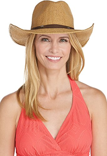 Coolibar UPF 50+ Women's Cowboy Hat - Sun Protective (One Size- Toast)